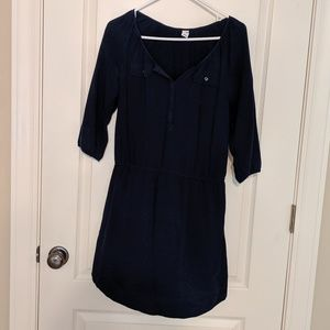 Button-Down Navy Blue Old Navy Dress